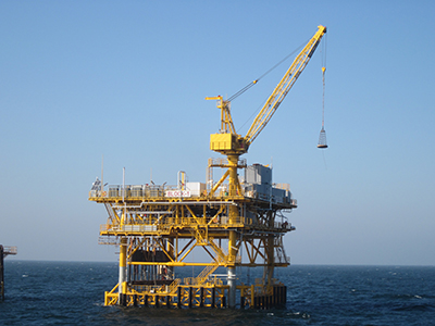 BLOCK-1 riser platform in the Caspian Sea (Dragon Oil Turkmenistan LTD)