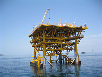 BLOCK-4 riser platform in the Caspian Sea (Dragon Oil Turkmenistan LTD)