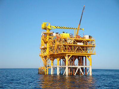 LAM-B fixed offshore platform at Djeytun Field in the Caspian Sea (Dragon Oil Turkmenistan LTD)
